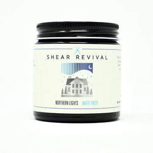 Shear revival northern lights matte paste stock image of the glass jar.