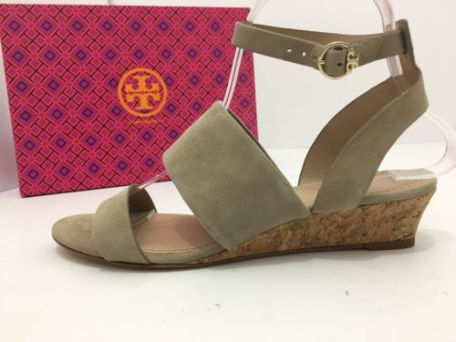 3bc20a63a3c ... Tory Burch North 35mm Wedge Sandal Fumo Lancaster Suede Size 7M ...