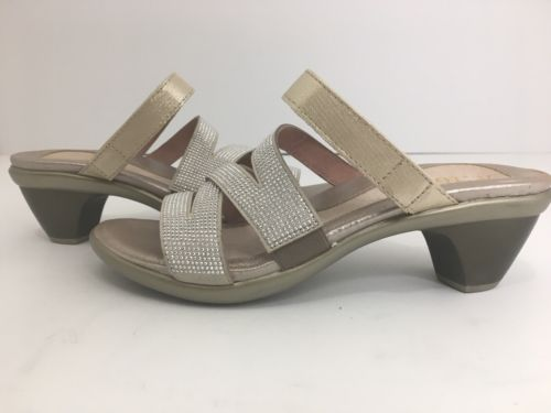 196c98bf6cf1 Noat Footwear Gold Threads Leather Beige   Silver Rivets Sandals Size 37 US  6 M