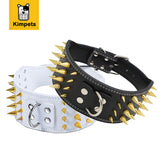 3 Inch Wide Spiked Leather Dog Collars