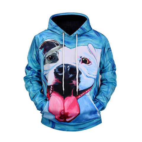 Mr.BaoLong Brand Pitbull 3D Printed Hoodies