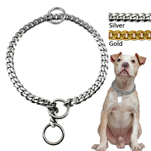 "Slip Dog Chain Collar ""Stainless Steel"""