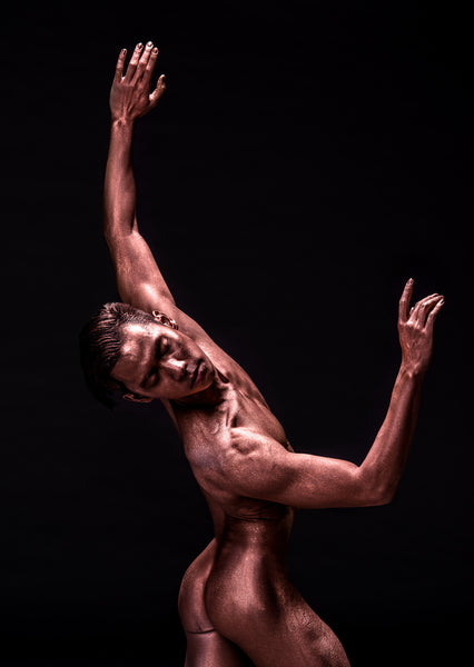 Art Dance Photography Prints - Purchase Online the artwork: Mehron Figures - male dancer dreaming in nude by Francisco Estevez