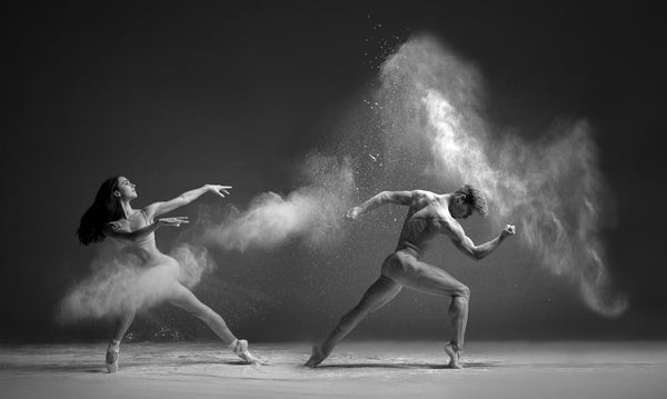 Art Dance Photography Prints - Purchase Online the artwork: Dancers duo in b&w by Francsico Estevez