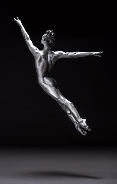 Art Dance Photography Prints - Purchase Online the artwork: Mehron Figures - male dancer nude in jump by Francisco Estevez