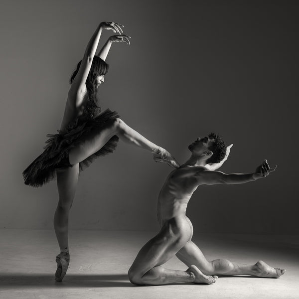 duet print dance dancers print black and white photography