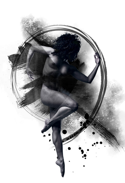 Art Dance Photography Prints - Purchase Online the artwork: Synthesis B&W by David Perkins