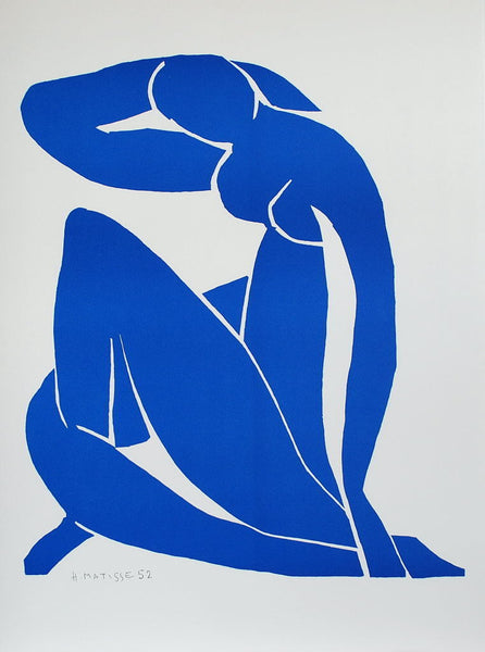 Nu Bleu II (Blue Nude II), 2007 by Henri Matisse (French, 1869–1954)  Lithograph, size 79 × 58 cm | 31 1/10 × 22 4/5 in Edition of 200 This work is part of a limited edition set.