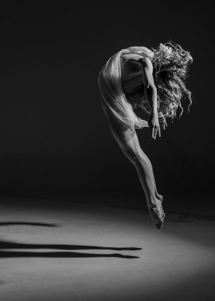 nympha dancer print ballerina jump black and white i dance contemporary gallery