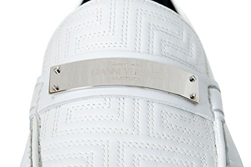 ff78fd01 Versace Gianni Men's White Moccasins Loafers Slip On Shoes