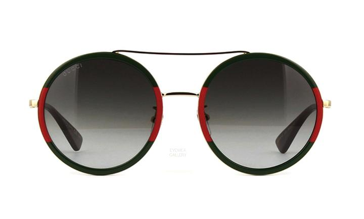 0461b1e8a5 RETRO - GUCCI ROUND GREEN RED AND GOLD SHADES – PHOENIX LUXURY