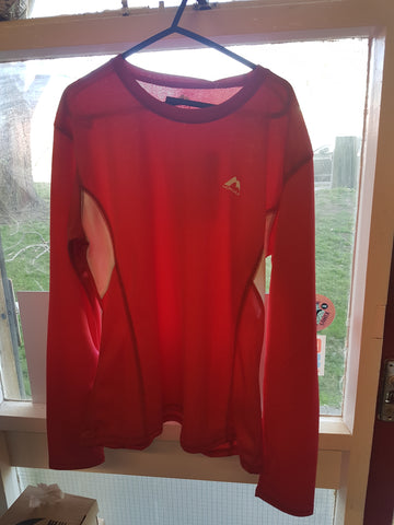 Red Long Sleeve Running Top - MySports and More