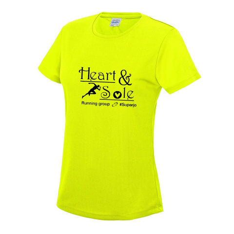 Ladies electric yellow tee