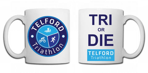 Telford Tri Club mug Tri or die - MySports and More
