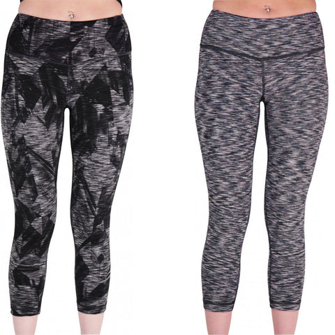 Grey Pattern Reversible Graphic Womens 7/8 Training Tights - MySports and More