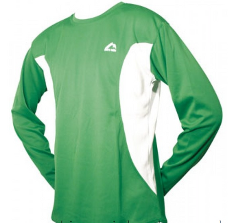 Long Sleeve Junior Running Top - Green XL boys size only