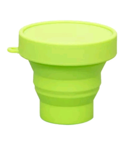 Silicone foldable and reusable cups