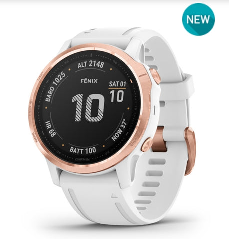 Fenix 6s Pro Rose Gold and White