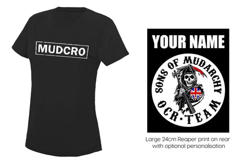 MUDCRO Ladies round necked wicking tee