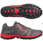 Cheviot 4 the Best Trail Shoe in Red and Grey