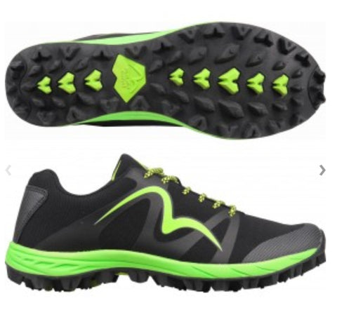 Cheviot 4 the Best Trail Shoe in Black and Green