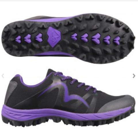 Cheviot 4 the Best Trail Shoe in Black and Purple