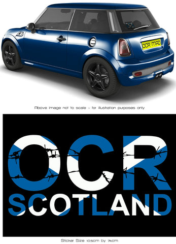 OCR Scotland car sticker