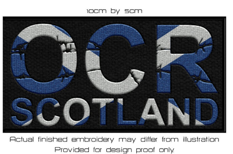 OCR Scotland embroidered patch