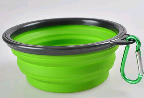 Dog collapsible water / food bowl