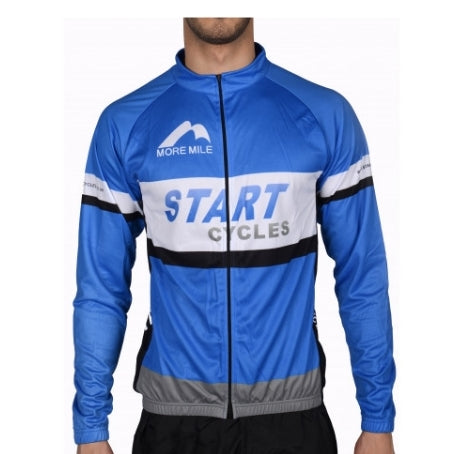 Long sleeve team cycling jacket