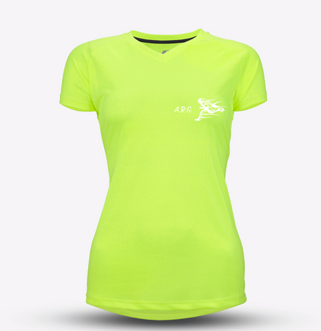 Neon Yellow Womens ARG Recycled Tech Tee