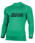 BIGGIN RUNWAYS Long Sleeve Compression  - Green