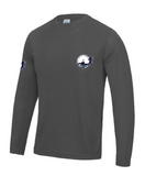 Ouse Valley Running tech long sleeve Top Grey
