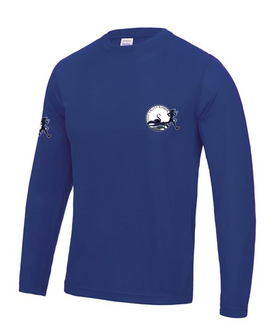 Ouse Valley Running tech long sleeve Top Royal Blue