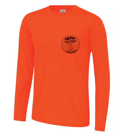 Fox Trotters Unisex Long Sleeve Tech Tee Orange