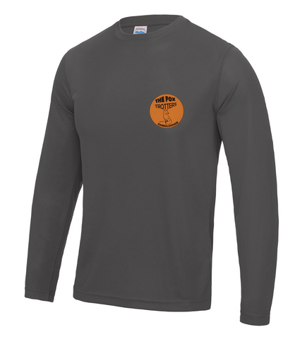Fox Trotters Unisex Long Sleeve Tech Tee Grey