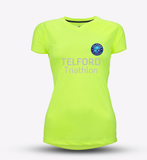 Neon Yellow Womens Telford Tri Recycled Tech Tee - MySports and More