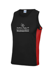 #mrptexperience Mens Cool Contrast Vest White&Navy/Fire Red&Black/Red&White - MySports and More