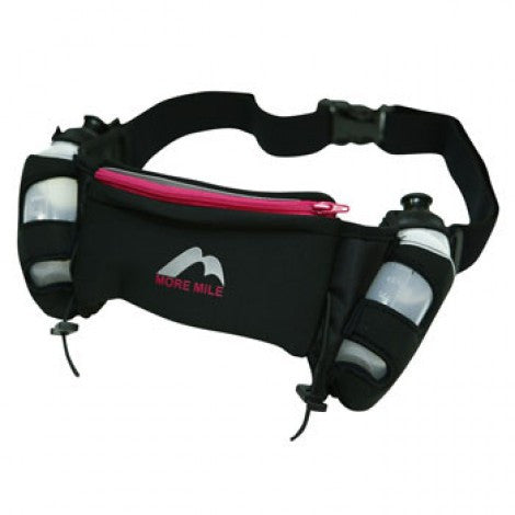 More Mile Endurance Twin Bottle Belt Running Waist Bag