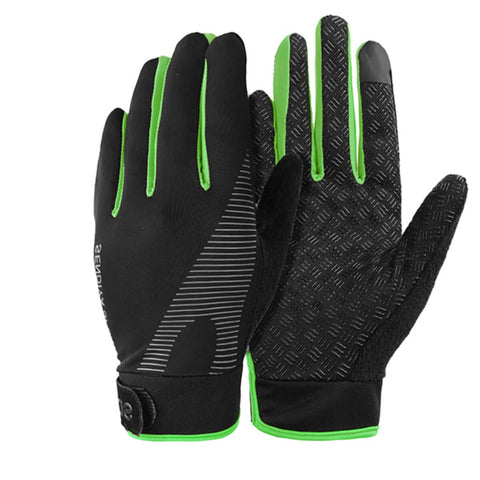 Running gloves with touch screen finger