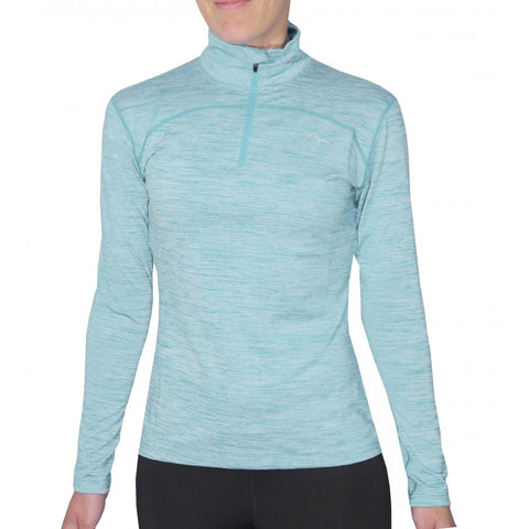More Mile Heather 1/4 Zip Girls Running Top