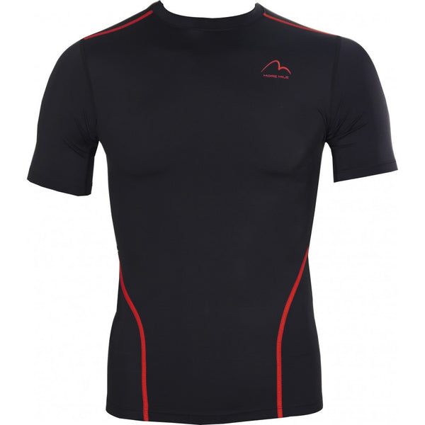 More Mile Compression Mens Short Sleeve Top - Black