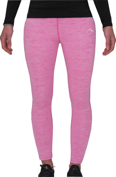 More Mile Heather Girls Long Running Tights