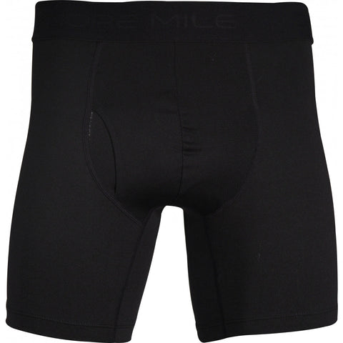More Mile 7 Inch Mens Boxer Short - Black