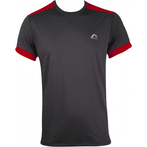 More Mile Action Mens Short Sleeve Running Top - Grey