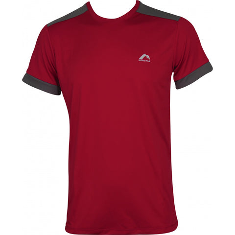 More Mile Action Mens Short Sleeve Running Top - Red
