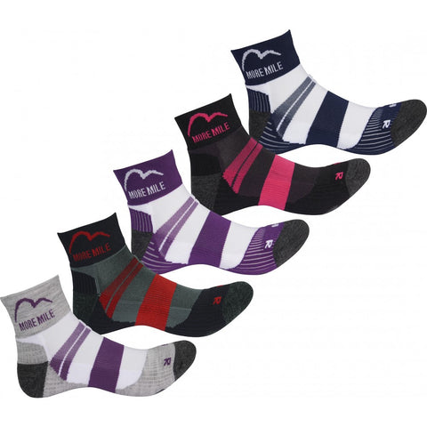 More Mile Endurance (5 Pack) Running Socks - MySports and More
