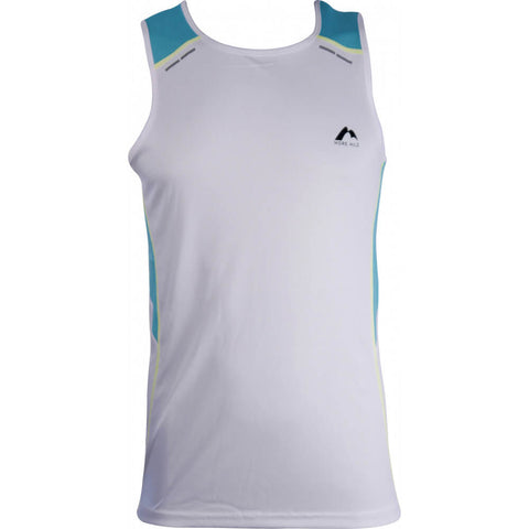 More Mile Energy Mens Running Vest - White