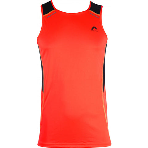 More Mile Energy Mens Running Vest - Coral