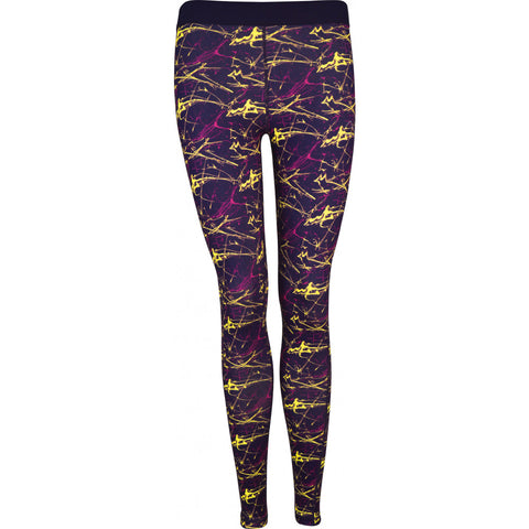 Purple Go For It Printed Womens Running Tights